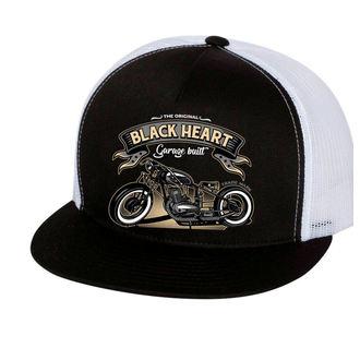 Șapcă BLACK HEART - JAWA 350 - WHITE, BLACK HEART