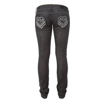 pantaloni femei (blugi) METAL Mulisha 'inimă Dragoste Slab', METAL MULISHA