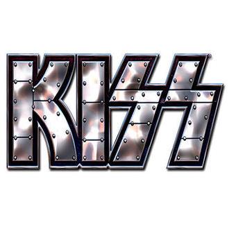 bolț insignă Pup - știft Logo bolț insignă - ROCK OFF, ROCK OFF, Kiss