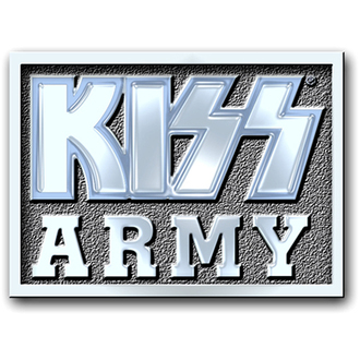 Insignă cu prindere cu ac Kiss - Army Block pin badge - ROCK OFF, ROCK OFF, Kiss