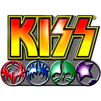 Insignă cu prindere cu ac Kiss - Logo Icons pin badge - ROCK OFF, ROCK OFF, Kiss