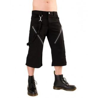 pantaloni scurți 3/4 bărbați Negru Pistol - Fermoar Mic de statura Pantaloni dril Negru, BLACK PISTOL