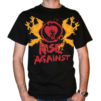 tricou stil metal bărbați Rise Against - Fist Crest - KINGS ROAD, KINGS ROAD, Rise Against