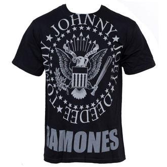tricou stil metal Ramones - Hey Ho Lets Go - LIQUID BLUE, LIQUID BLUE, Ramones