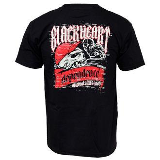 tricou de stradă bărbați - Depeandeance - BLACK HEART - Depeandeance, BLACK HEART