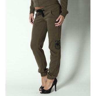 pantaloni (trackpants) femei METAL Mulisha - recon - Militar Verde, METAL MULISHA