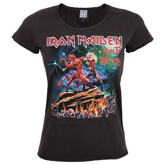 tricou stil metal femei Iron Maiden - RUN TO THE HILLS - AMPLIFIED, AMPLIFIED, Iron Maiden