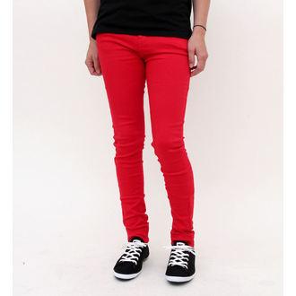 pantaloni femei IAD BUNNY - Super Slab - roșu, HELL BUNNY