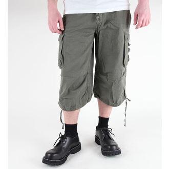 pantaloni scurți bărbați 3/4 MIL-TEC - Aer luptă - Pre-spalare oliv, MIL-TEC