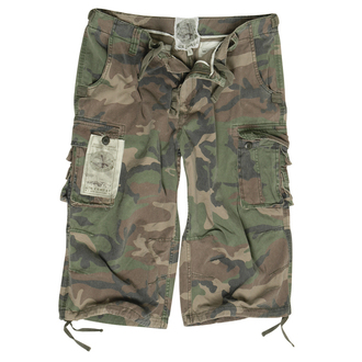 pantaloni scurți bărbați 3/4 MIL-TEC - Aer Luptă - Pre-spalare Woodland, MIL-TEC