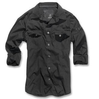 cămaşă bărbați Brandit - bărbaţi Cămaşă Subţire - Negru, BRANDIT