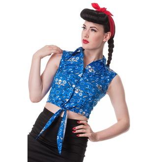 cămaşă (vestă) femei IAD BUNNY - Bandană - Blu, HELL BUNNY
