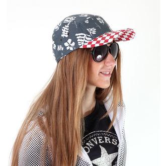 șapcă VANS - Davis 5 Panou vilegiaturist Pălărie - roșu Verifica / bleumarin aloha, VANS