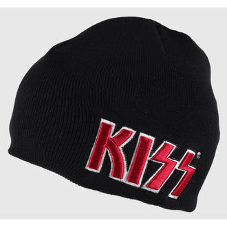 Căciulă Kiss - Red on White Logo - ROCK OFF, ROCK OFF, Kiss