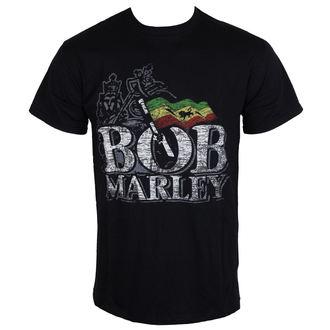 tricou stil metal bărbați Bob Marley - Distressed Logo - BRAVADO EU, BRAVADO EU, Bob Marley
