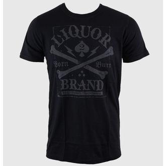 tricou hardcore bărbați - Crossbones - LIQUOR BRAND, LIQUOR BRAND