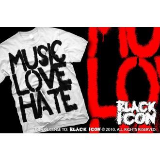 tricou hardcore bărbați - Music, Love - BLACK ICON, BLACK ICON