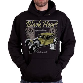 hanorac cu glugă bărbați - Gravedigger - BLACK HEART - Gravedigger, BLACK HEART
