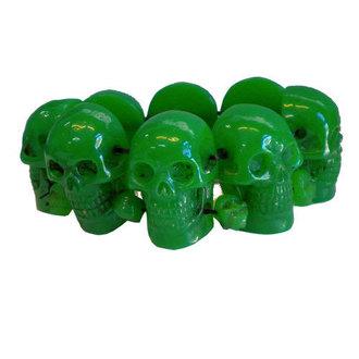 brăţară KREEPSVILLE ŞASE ŞASE ŞASE - Craniu - Verde, KREEPSVILLE SIX SIX SIX