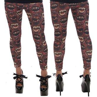 pantaloni femei (colanți) KREEPSVILLE ŞASE ŞASE ŞASE - Monstru Gură - roșu, KREEPSVILLE SIX SIX SIX