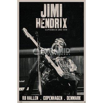 poster Jimi Hendrix - Copenhaga - PYRAMID POSTERS, PYRAMID POSTERS, Jimi Hendrix