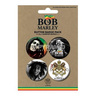 insigne Bob Marley - Fotografie - PYRAMID POSTERS, PYRAMID POSTERS, Bob Marley