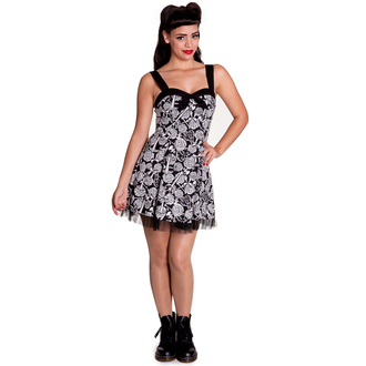 rochie femei IAD BUNNY - Avalon Mini - Negru / alb, HELL BUNNY