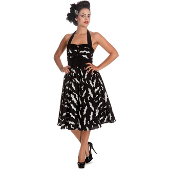 rochie femei IAD BUNNY - Băţ 50´s - Negru / alb, HELL BUNNY