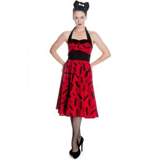 rochie femei IAD BUNNY - Băţ 50´s - roșu / Negru, HELL BUNNY