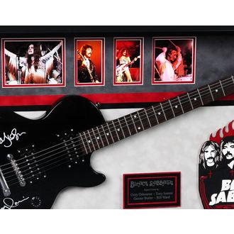 semnat chitară NEGRU SABAT, ANTIQUITIES CALIFORNIA, Black Sabbath