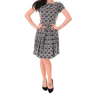 rochie femei 3RDAND56th - plisat Mops - Gri argintiu, 3RDAND56th