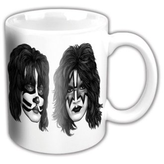 Cană KISS - Graphite Faces - ROCK OFF, ROCK OFF, Kiss