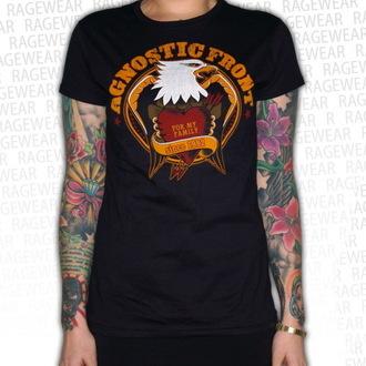 tricou stil metal femei unisex Agnostic Front - Old School Heart - RAGEWEAR, RAGEWEAR, Agnostic Front