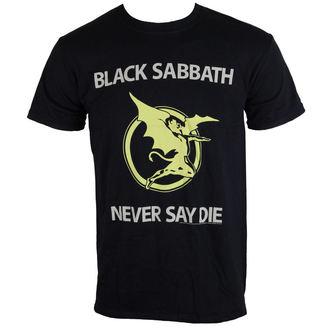 tricou stil metal bărbați unisex Black Sabbath - Never Say Die - BRAVADO EU, BRAVADO EU, Black Sabbath