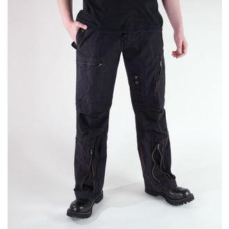 pantaloni bărbați MIL-TEC - Fliegerhose - Pre-spalare Negru, MIL-TEC