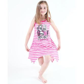 rochie fecioresc televizor MANIE - Monstru Înalt - alb / Roz, TV MANIA