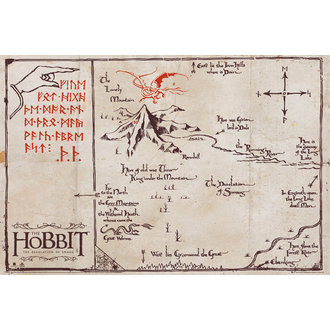 poster The hobbit - Munte Hartă, GB posters
