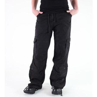 pantaloni femei Rothco - WMNS EPOCĂ PARAŞUTIST - oboseli NEGRU, ROTHCO