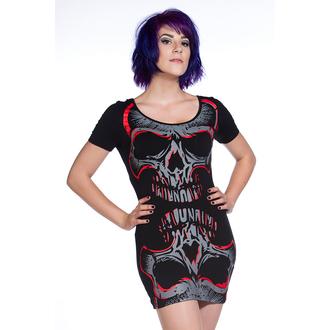 rochie femei (tunică) BANNED - roșu Oglindă Craniu - OBN134