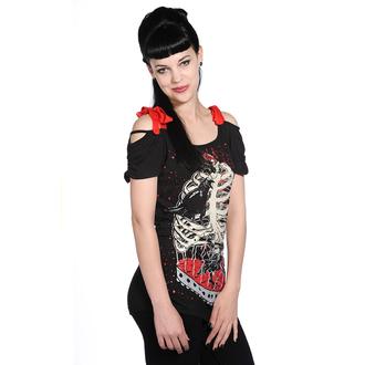 tricou femei unisex - Bird In Skeleton Cage - BANNED - OBN119
