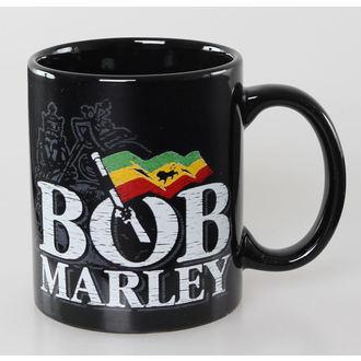 Cană Bob Marley - Distressed Logo - Black - ROCK OFF, ROCK OFF, Bob Marley