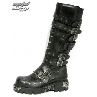 cizme piele - Rivet High Boots (796-S1) Black - NEW ROCK