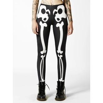 pantaloni femei (colanți) Suspiciunea - Oase - Negru / alb, DISTURBIA