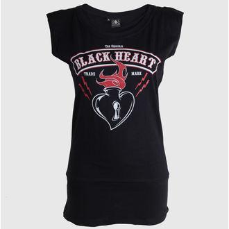 tricou de stradă femei - Flames - BLACK HEART - Flames, BLACK HEART