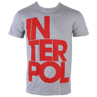 tricou stil metal bărbați Interpol - Stacked Logo - PLASTIC HEAD, PLASTIC HEAD, Interpol