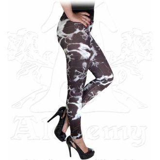pantaloni femei (colanți) ALCHEMY GOTHIC - Electric cranii, ALCHEMY GOTHIC