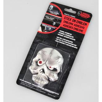 decorațiune (la mașină) MORTAL AMENINȚARE - Globul ocular Craniu Emblemă, LETHAL THREAT