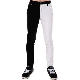 pantaloni bărbați 3RDAND56th - Despică Picior Slab - Negru / alb, 3RDAND56th