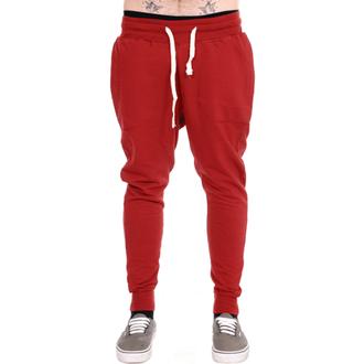 pantaloni unisex (pantaloni de trening) 3RDAND56th - Morcov Potrivi jogger - vin roșu, 3RDAND56th