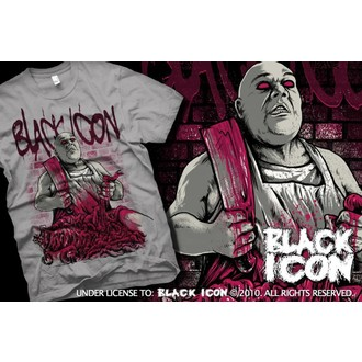 tricou hardcore bărbați - Grey - BLACK ICON, BLACK ICON